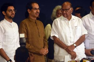 In bid to avoid President's Rule, Sena-NCP-Cong stake claim to form govt in Maharashtra