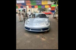 Porsche 911 owner driving without number plate, valid documents fined Rs 9.8 lakh in Ahmedabad
