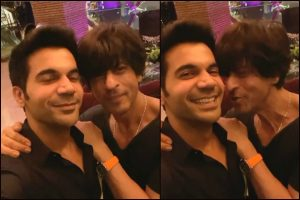 Watch | Shah Rukh Khan gives a kiss to Rajkummar Rao
