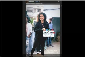 Sanya Malhotra begins shooting for next film titled 'Pagglait'