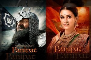 Character posters of 'Panipat' featuring Sanjay Dutt, Kriti Sanon and Arjun Kapoor out