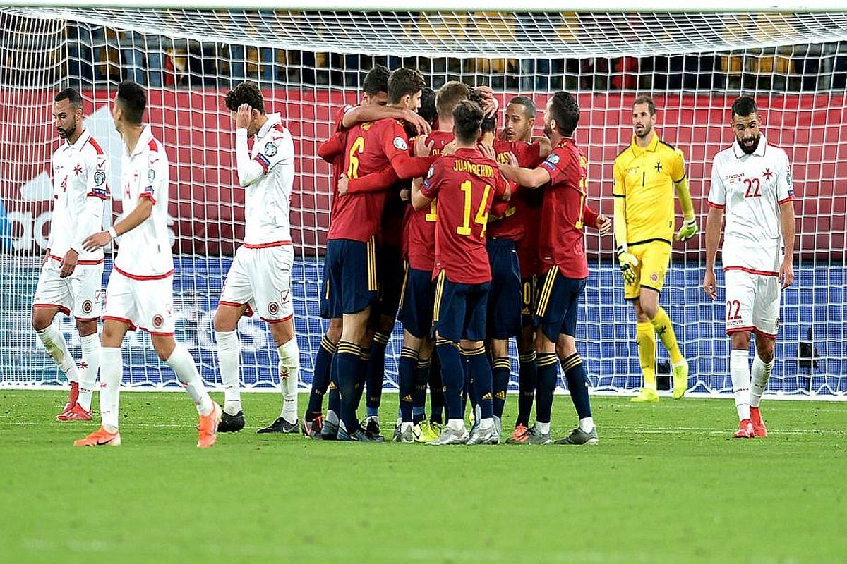 Spain vs Malta, Spain vs Malta UEFA Euro 2020 Qualifiers, Spain vs Malta Euro Qualifiers, Spain goals vs Malta, Alvaro Morata, Gerrard Moreno, Spain football team news, Euro Qualifier reuslt, Euro Qualifier news