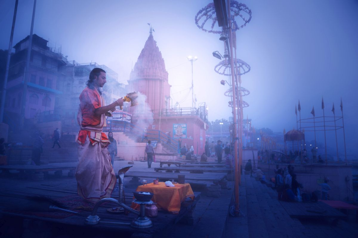 Shiv Ling at Varanasi temple made to wear mask to protect from pollution