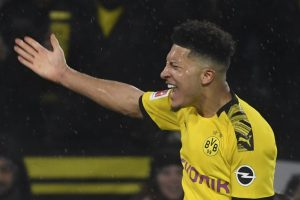 Jadon Sancho becomes youngest player to score 22 Bundesliga goals