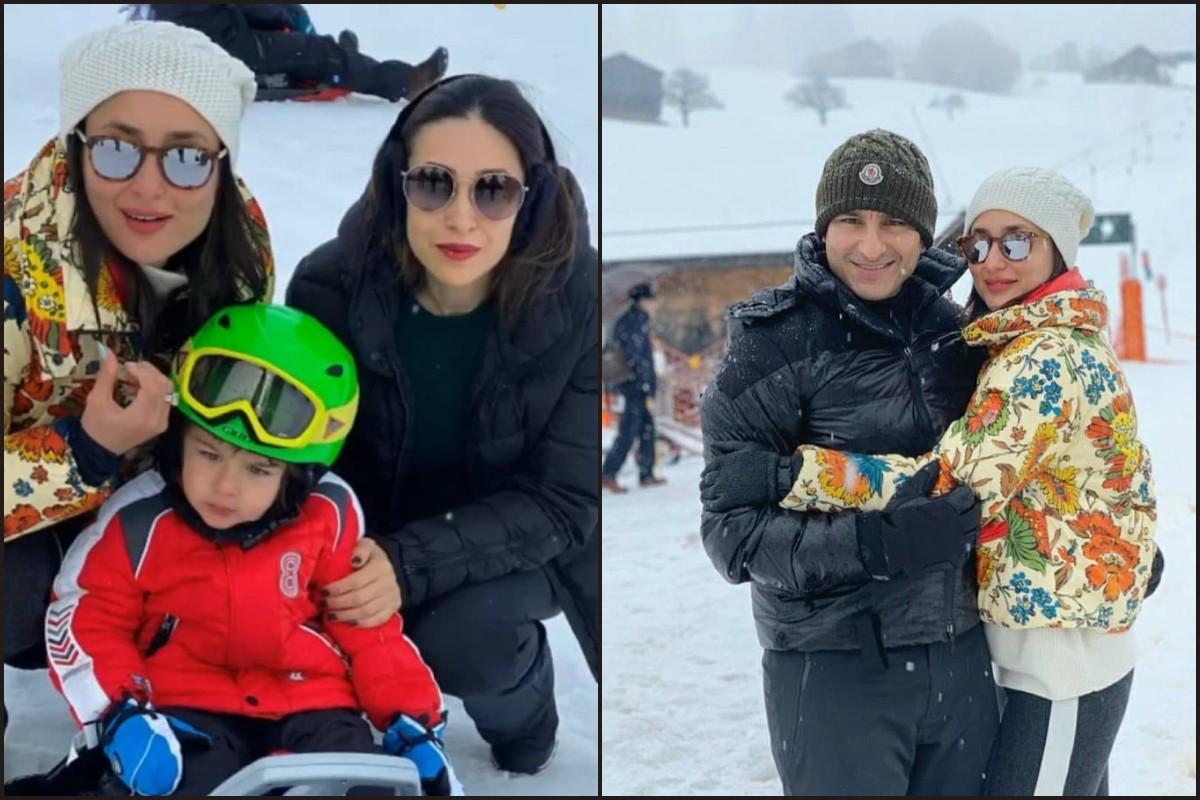 New Year 2020, Taimur, Saif Ali Khan, Kareena Kapoor Khan, Karisma Kapoor, Switzerland,