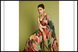 Deepika Padukone slays in abstract Sabyasachi saree during Chhapaak promotions