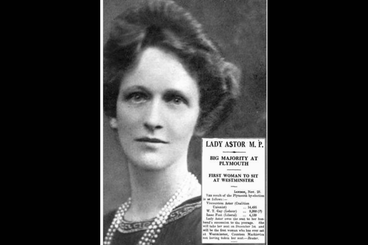 Nancy Astor, British Parliament, Constance Markievticz, First World War