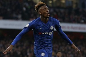 Didier Drogba reacts to Tammy Abraham goal celebration against Arsenal