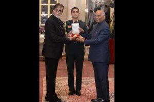 Amitabh Bachchan honoured with Dadasaheb Phalke Award, says still some work is left to be done