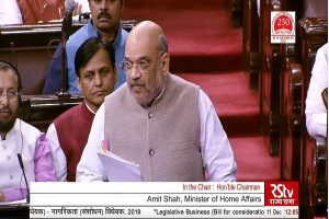 Rajya Sabha TV telecast briefly stopped after Amit Shah heckled by Opposition