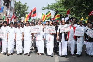 MK Stalin leads mega protest rally against CAA in Chennai, P Chidambaram joins