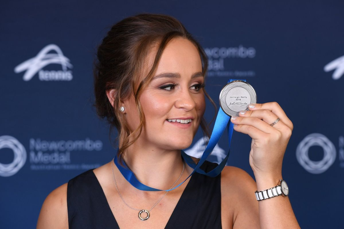 Ash Barty, Australia's top tennis award, Ashleigh Barty, Newcombe Medal,