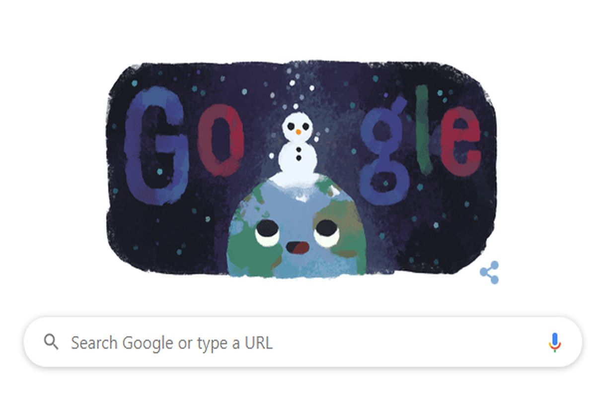 Google marks winter solstice, shortest day of year with an adorable doodle