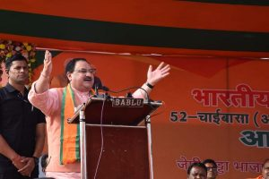 Rajnath Singh, JP Nadda campaign in Jharkhand, praise Modi government work