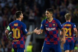 Barcelona stalwarts Lionel Messi, Luis Suarez return to training with team at Camp Nou