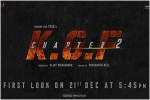 Sanjay Dutt announces 'KGF: Chapter 2' first-look date