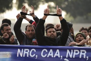 CAA protests: Hundreds march towards PM residence with hands tied, stopped by police