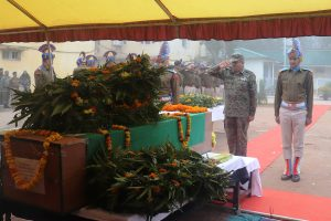 Tributes paid to CRPF's DIG, constable killed in landslide
