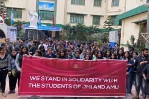 Xaverians rally in solidarity with JMI, AMU students