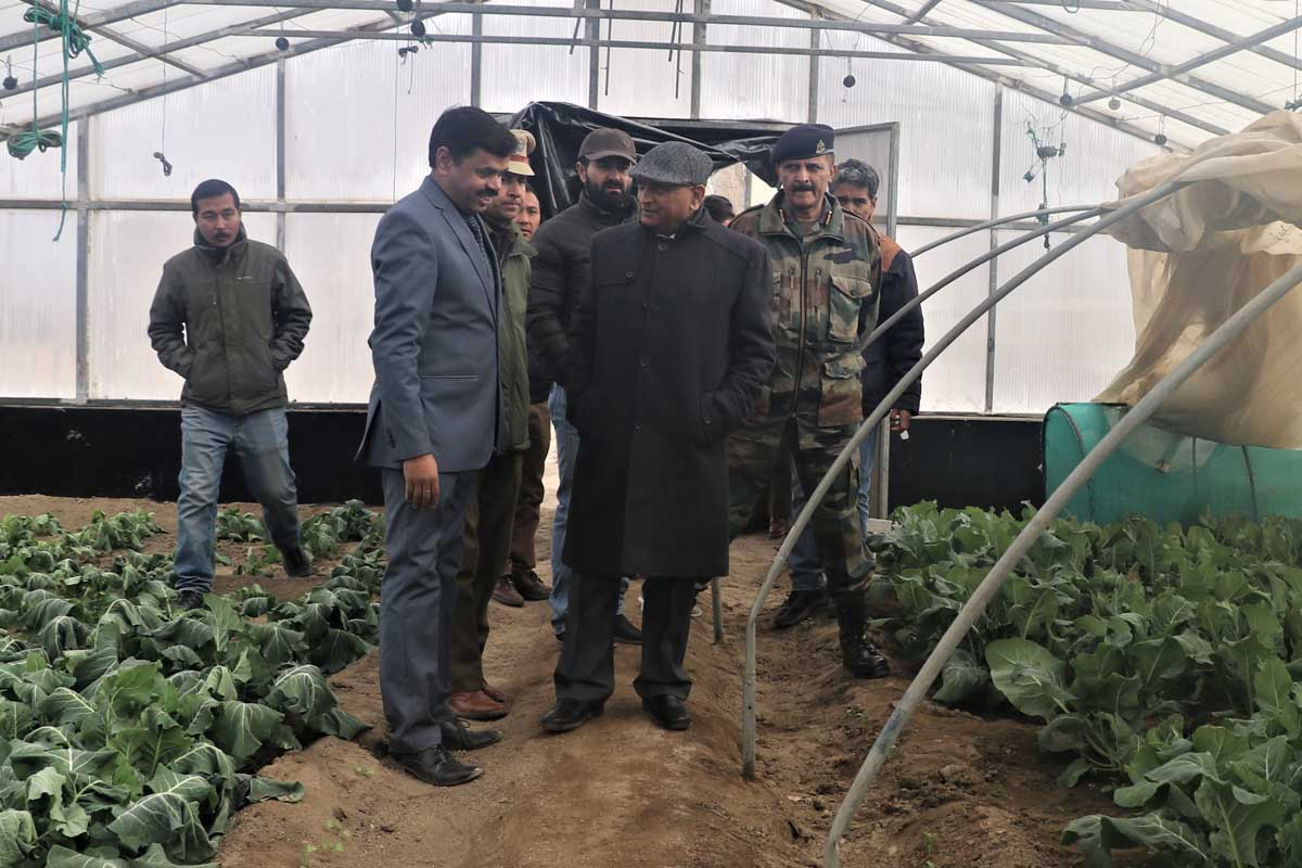 Mathur asks DIHAR to construct polycarbonate greenhouses in Ladakh