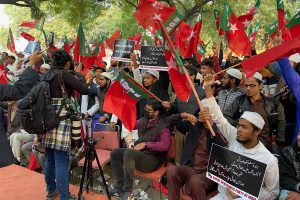 Protests against CAB in capital
