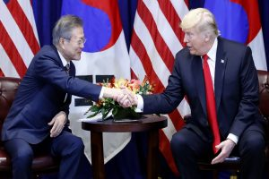 S Korea President Moon and Donald Trump agree to maintain dialogue over N Korea