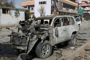 Car bomb blast, firing outside main US base in Afghanistan