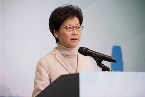 Hong Kong leader Carrie Lam's online greeting draws negative response