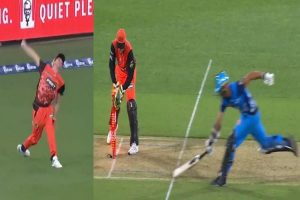 Bowler 'bowls' from boundary line to get batsman run out in BBL | HOW?