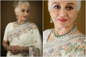 Asha Parekh looks evergreen fashionista in Manish Malhotra's ensemble; check pics