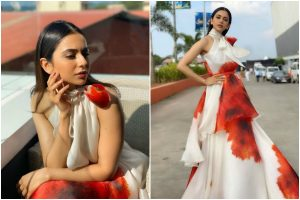 Rakul Preet Singh looks pretty in floor-sweeping floral gown; check pics