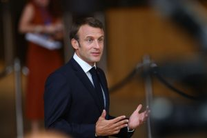 French President Emmanuel Macron voices determination to fight IS extremism