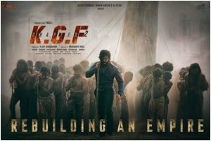 KGF: Chapter 2 first look poster featuring Yash out
