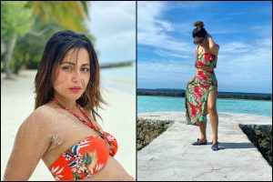 Do the Maldives like Hina Khan