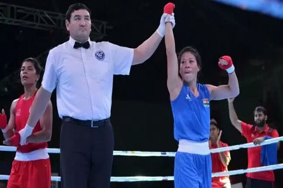 Mary Kom, Nikhat Zareen, Mary Kom vs Nikhat Zareen, Olympic Qualifiers trial, Mary Kom vs Nikhat Zareen 51 kg Olympic Qualifiers, Mary Kom vs Nikhat Zareen boxing match, Boxing Federation of India, BFI