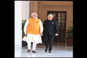 Mauritius Prime Minister Pravind Jugnauth meets PM Modi