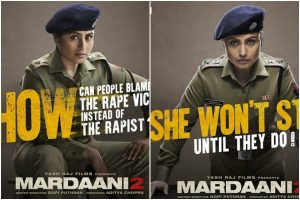 'Mardaani 2' new posters out; Rani Mukherji asks unanswered questions
