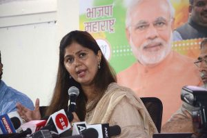 Pankaja Munde posts picture with BJP symbol in tribute to Rajendra Prasad amid rumours