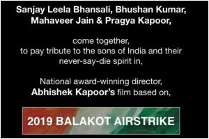 Sanjay Leela Bhansali to make film on Balakot airstrike
