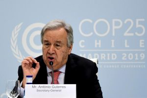 UN Secretary General warns of 'point-of-no-return' in climate crisis, lambasts major economies