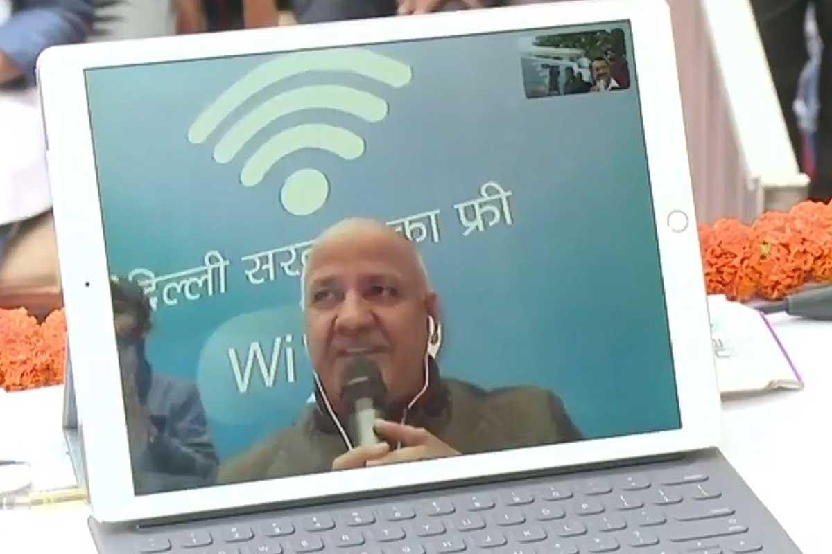 Delhi CM and his Deputy launches free Wi-Fi hotspots in Delhi amid internet shutdown