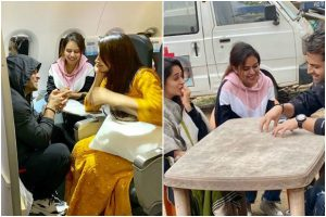 Dipika Kakar, hubby Shoaib Ibrahim look adorable in 'fake' candid; see pics