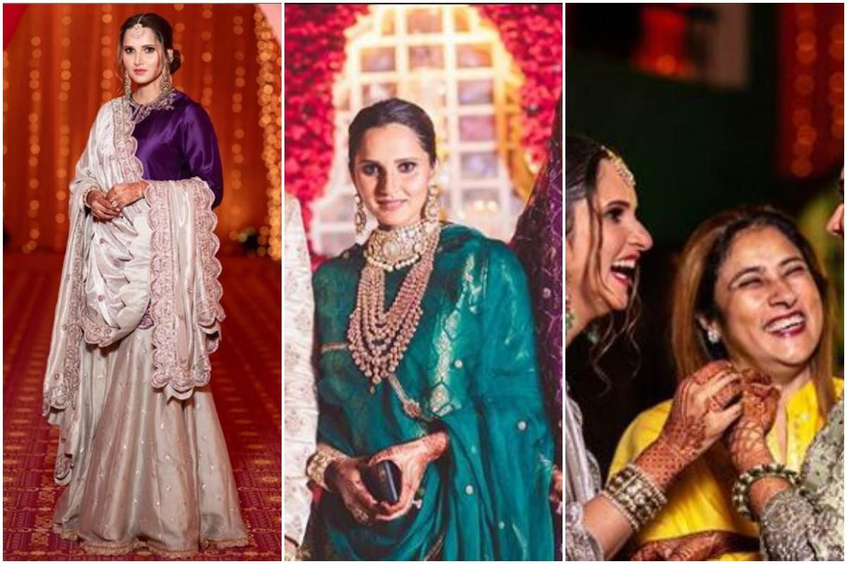 Mohammad Asaduddin, Sania Mirza, Mohammad Azharuddin, Anam Mirza, Wedding pictures