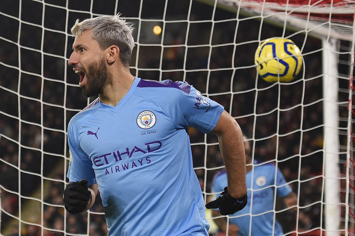 Sergio Aguero, Manchester City, Manchester City vs Sheffield United,
