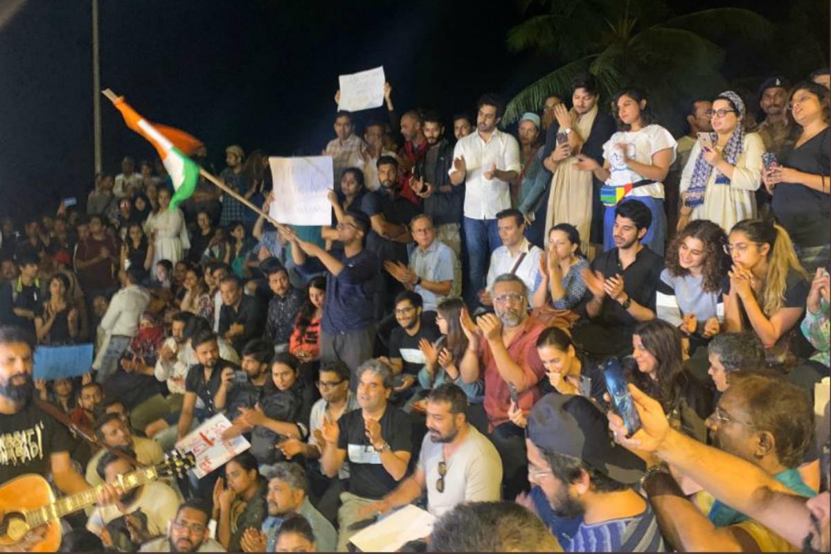 JNU violence: Anurag Kashyap, Vishal Bhardwaj, Taapsee Pannu at solidarity protest in Mumbai