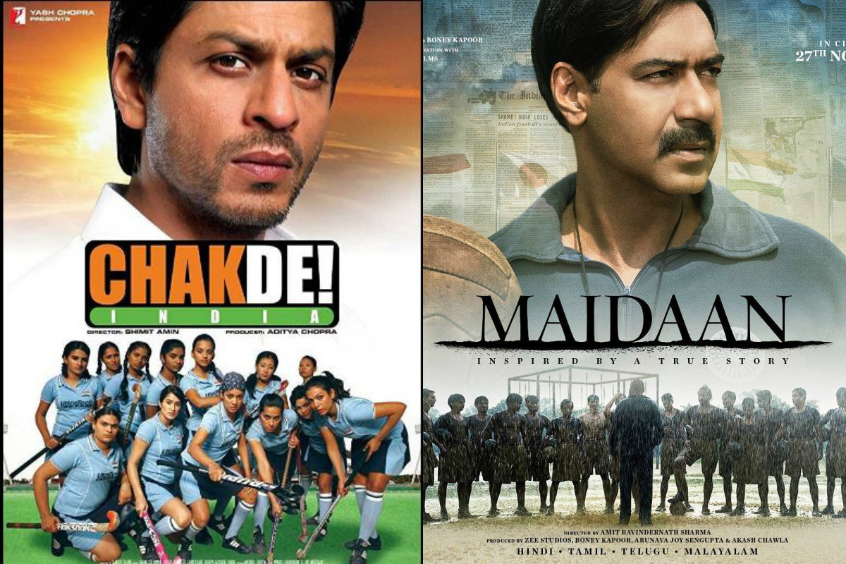 Maidaan, Maidaan posters, Ajay Devgn, Syed Abdul Rahim, Boman Irani, Gajraj Rao, Priyamani, Amit Ravindernath Sharma, SRK, Chak De! India