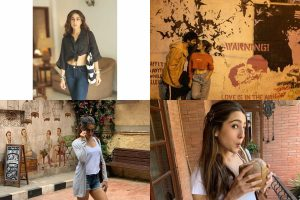 Sara Ali Khan, Kartik Aaryan post BTS pics from Love Aaj Kal sets