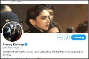 Anurag Kashyap changes Twitter profile pic to that of Deepika Padukone