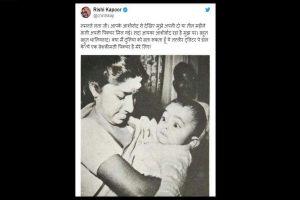 Rishi Kapoor shares throwback pic with Lata Mangeshkar; fans gush over toddler Rishi