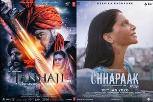 Tanhaji makes impressive Box Office collection; Chhapaak still to make a mark
